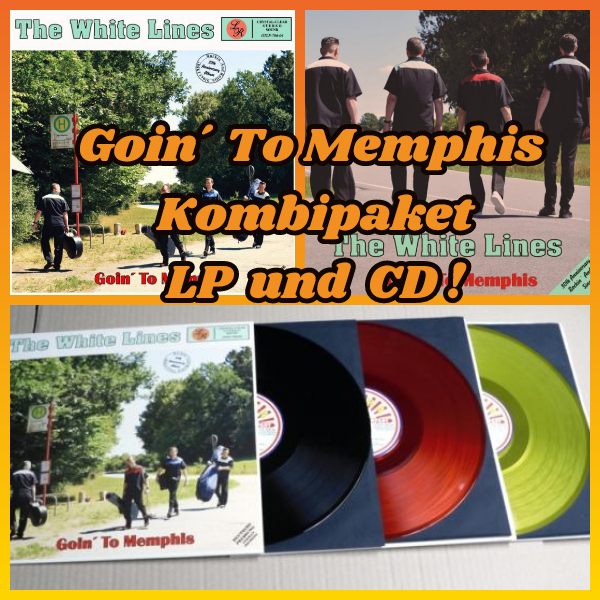 The White Lines - Goin´ To Memphis LP und CD Kombipaket